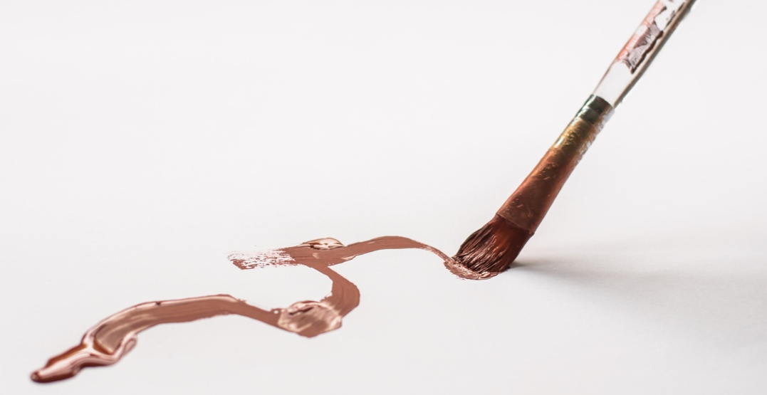 chocolate painting paint brush