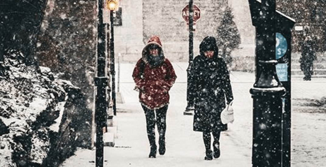 Snow flurries are in the forecast for Montreal this weekend