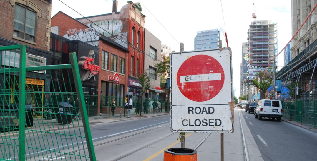 Major road closures in Toronto this weekend: November 25 to 26