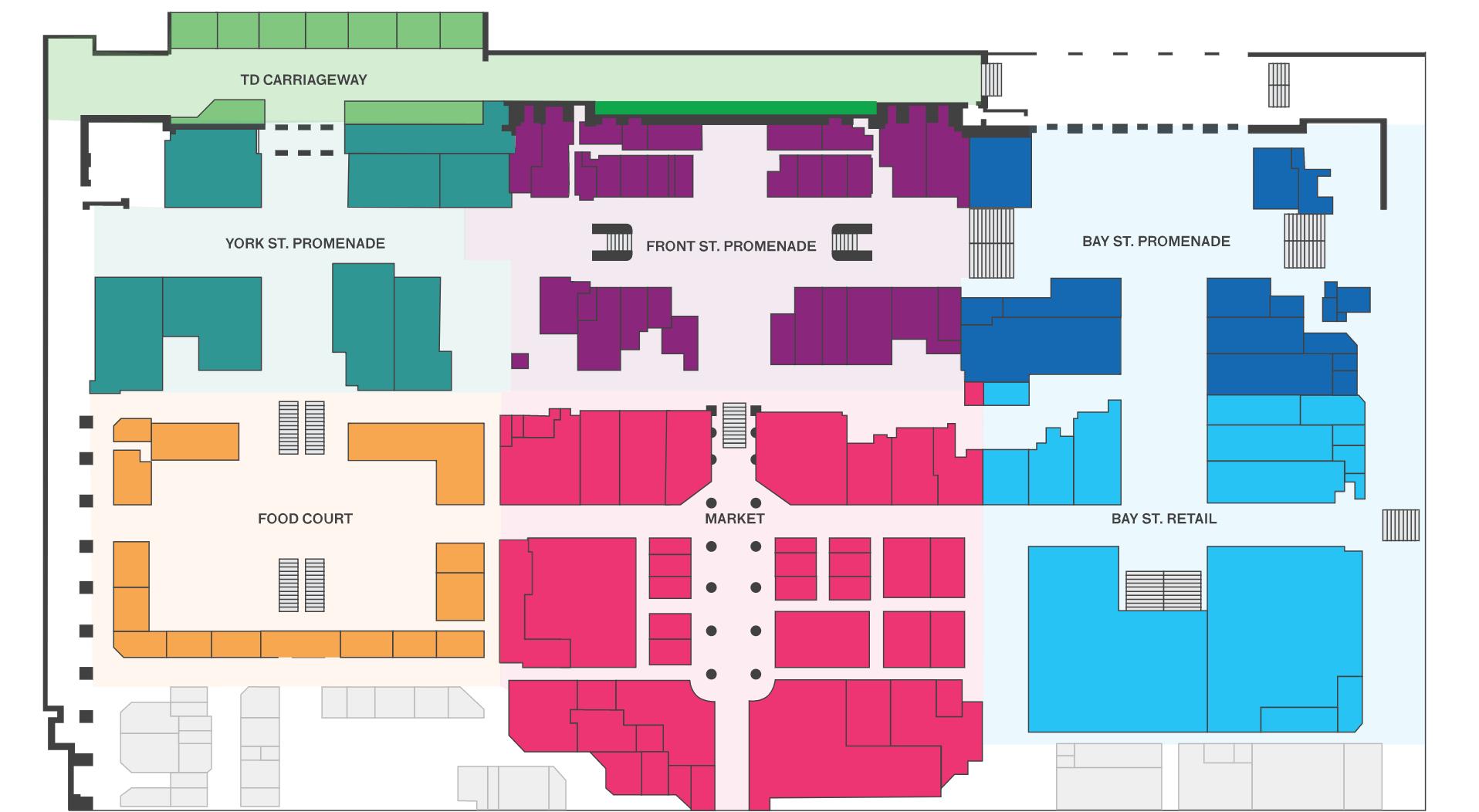 Toronto Union Station map lower level