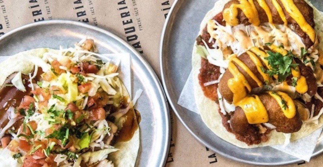 Get 2-for-1 tacos today at La Taqueria Gastown