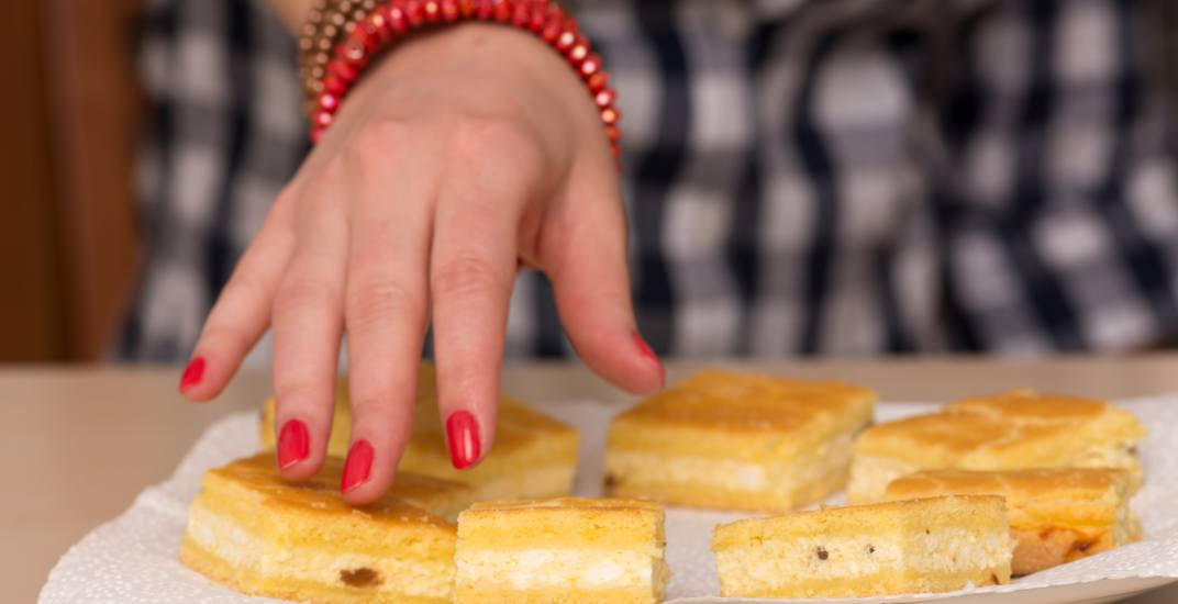 Reaching for a lemon square / Shutterstock