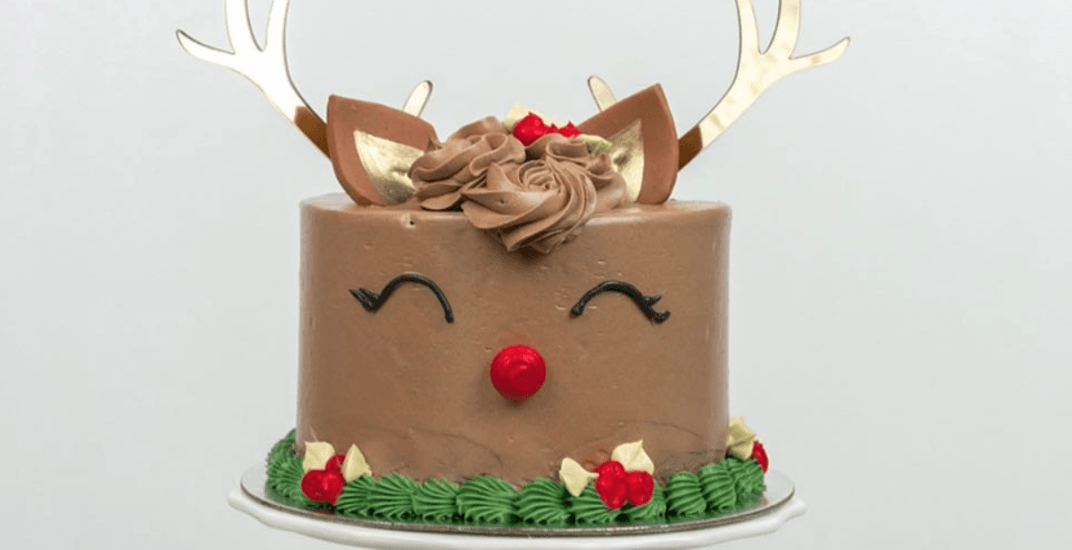 Festive reindeer cakes have landed in Toronto for the holidays