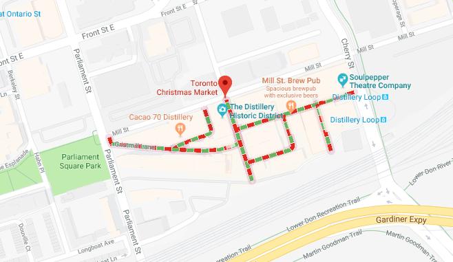 Google Maps Toronto Christmas Market