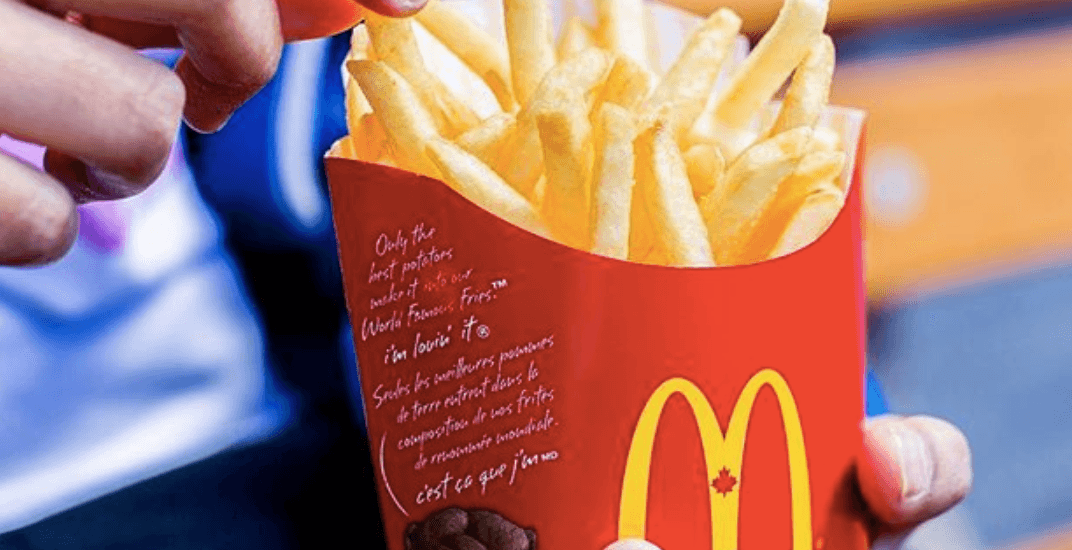 You can get FREE McDonald's fries in Montreal today