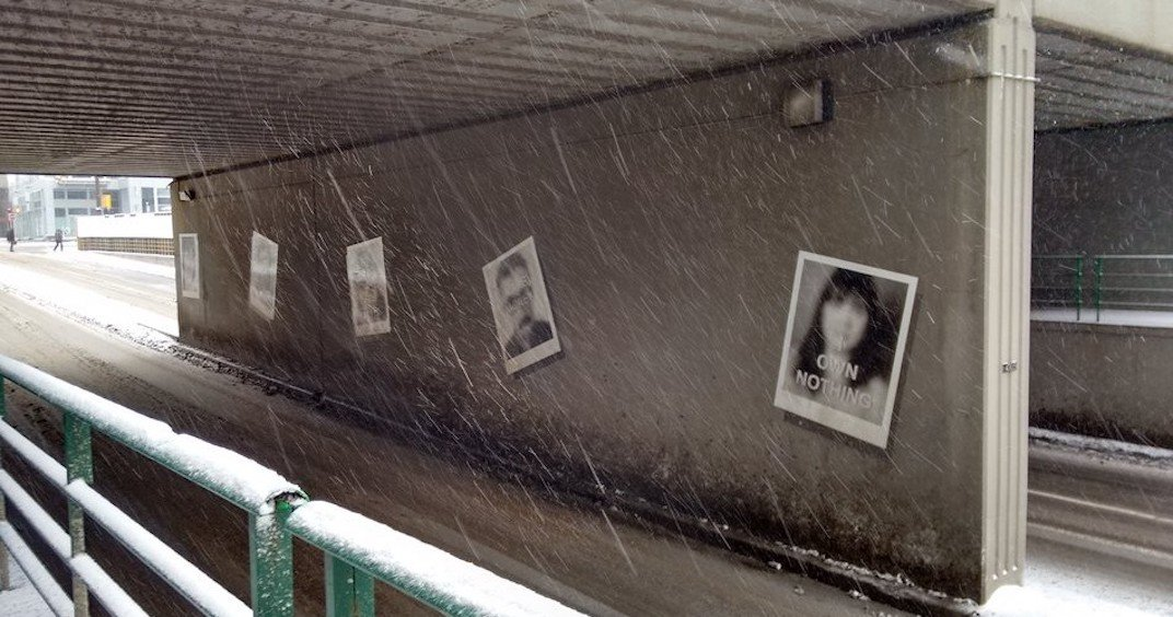 Faces in 4th Street Underpass' 'Snapshots' art installation may not actually be Calgarians
