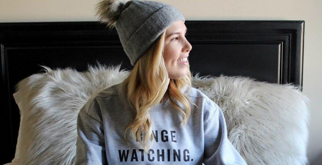 Binge watch wares sweaterpanago pizza