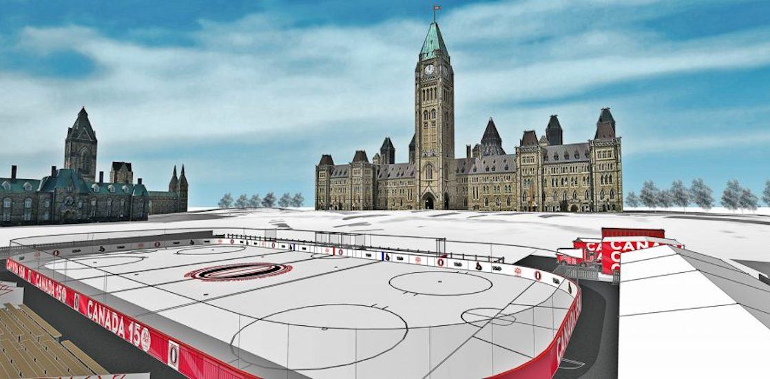 The new skating rink on Parliament Hill is looking for a Zamboni driver