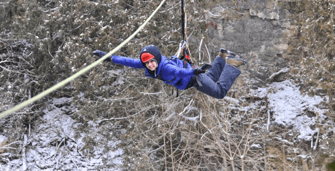 You can go winter ziplining just 2 hours from Toronto