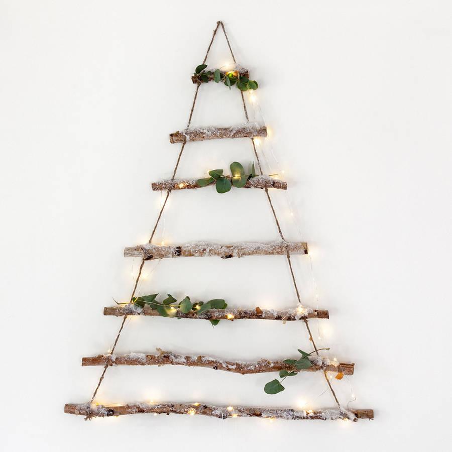 Birch branch hanging Christmas tree / Lights4fun.co.uk