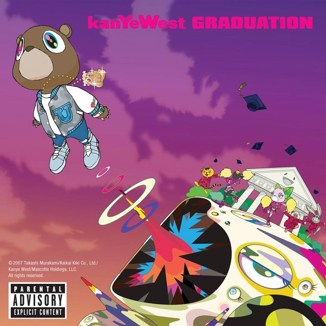 The album cover for Kanye West's Graduation, designed by Takashi Murakami (Takashi Murakami/Kaikai Kiki Co./Kanye West/Mascotte Holdings)
