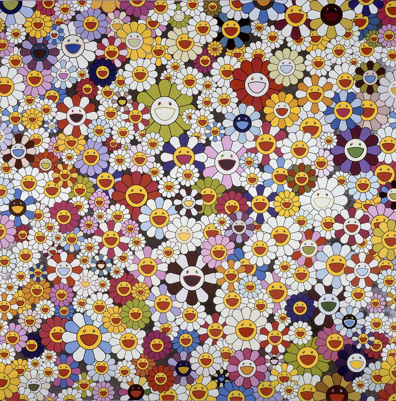 Flowers, flowers, flowers by Takashi Murakami (Takashi Murakami/Kaikai Kiki Co.)