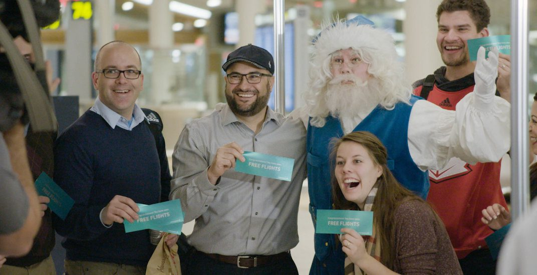 Calgary International Airport hosts WestJet's 12 Flights of Christmas finale