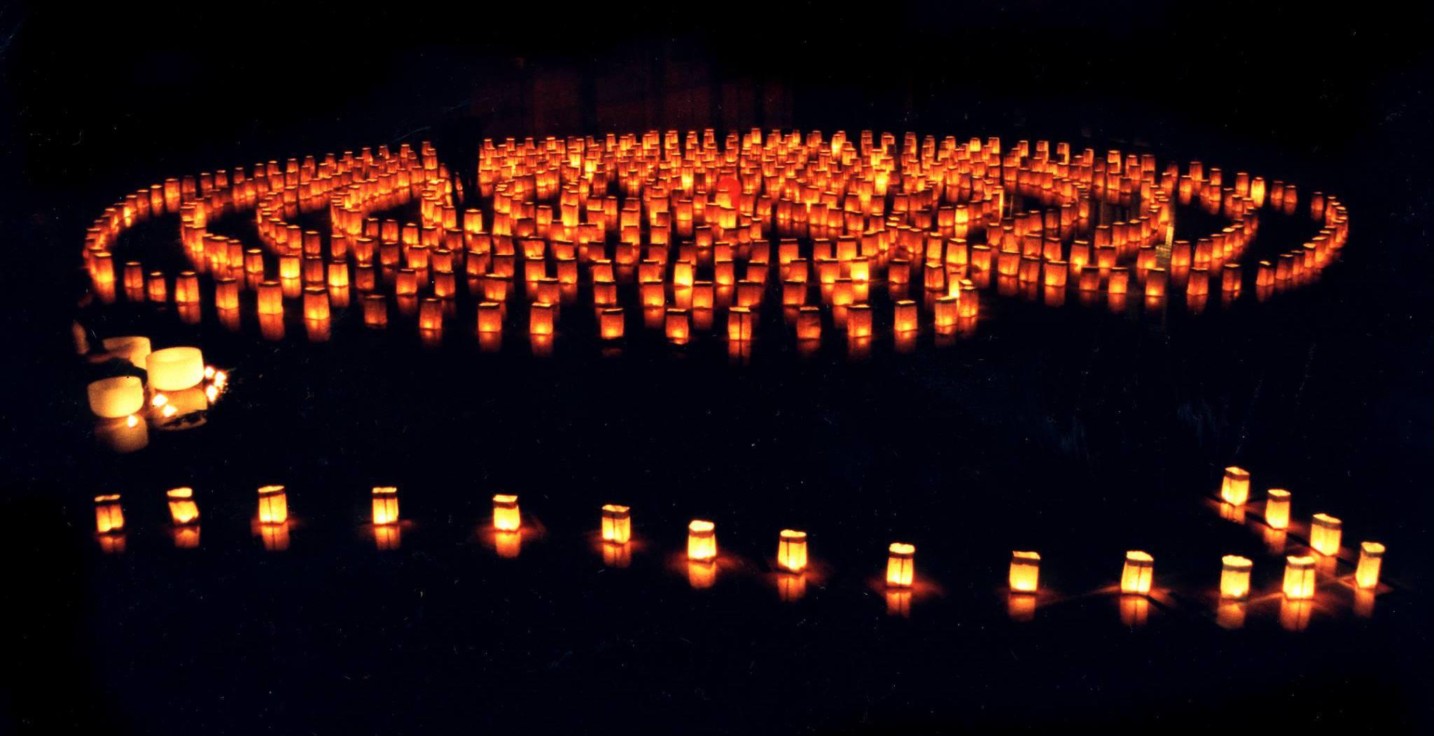 Labyrinth of light at the winter solstice lantern festival secret lantern society facebook