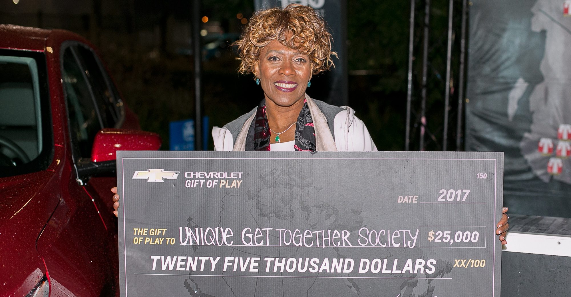 Debra abraham unique get together society receives 25000 towards new car from chevrolet 1 e1512505986786