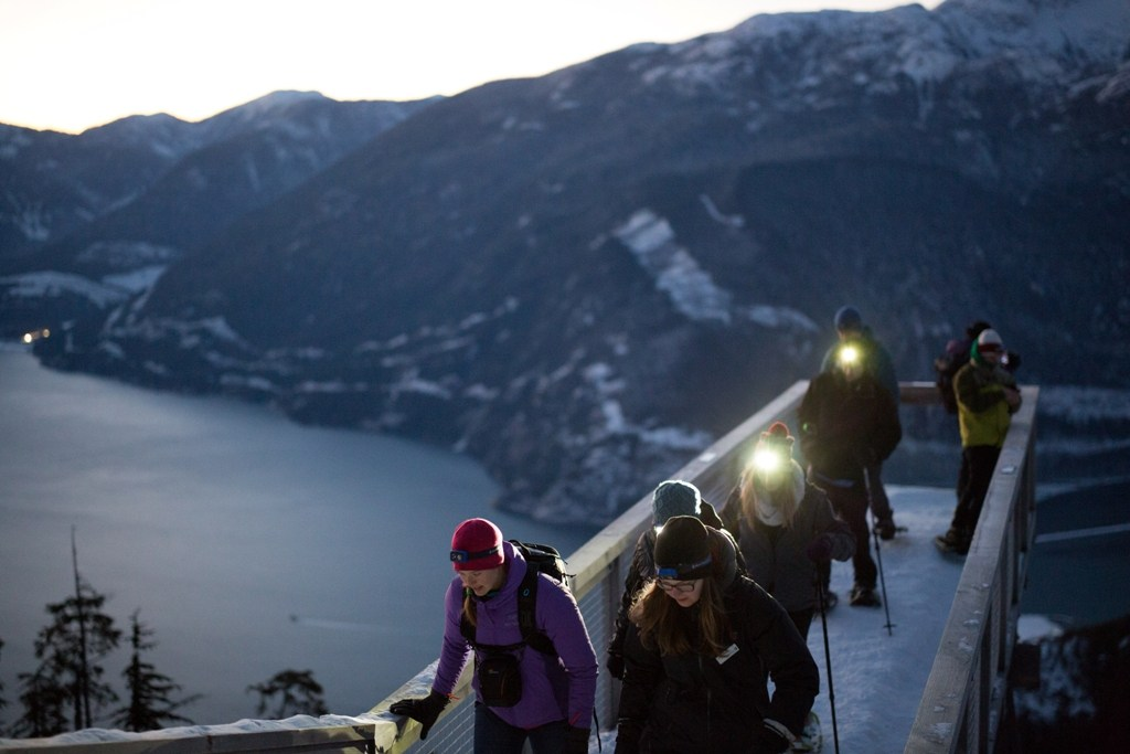 sea to sky gondola headlamp hike tour