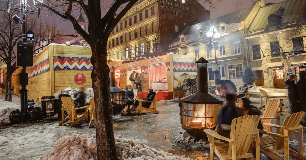 A giant Christmas festival is taking place in Old Montreal this December