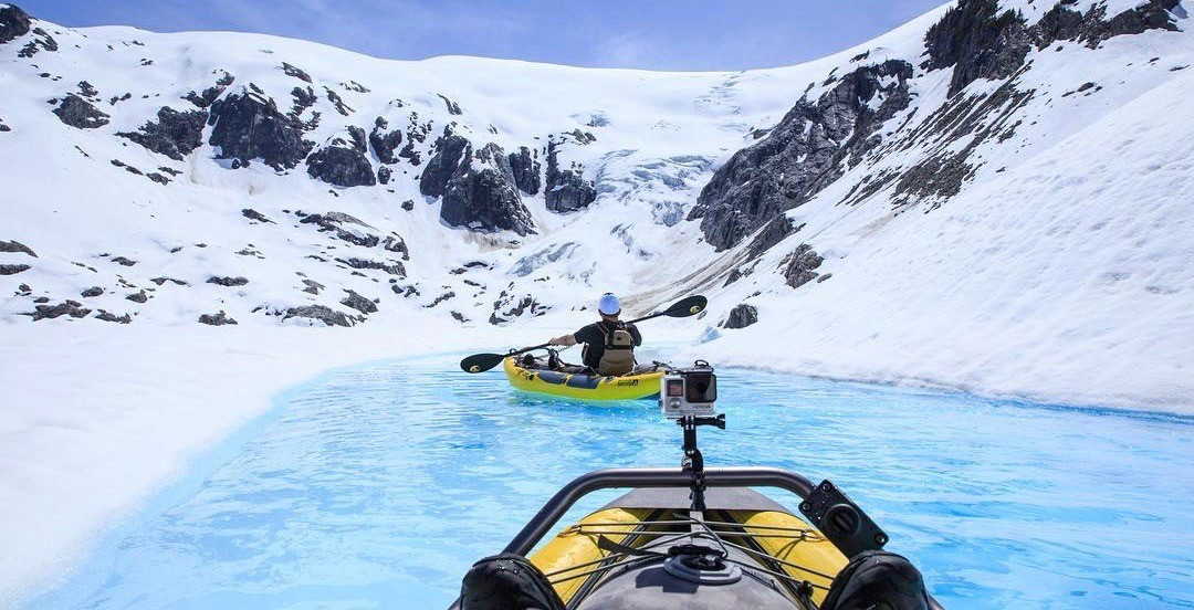 You can go on a once in a lifetime glacier kayaking trip in BC's Coast Mountains