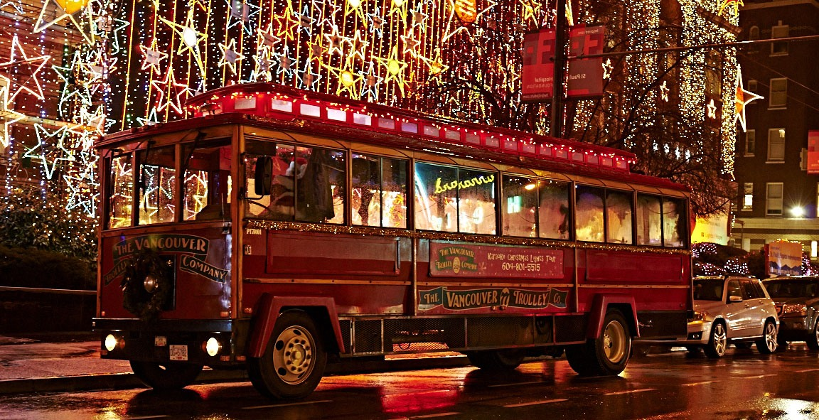 Karaoke Christmas Lights trolleybus tour offers an unusual way to see Vancouver
