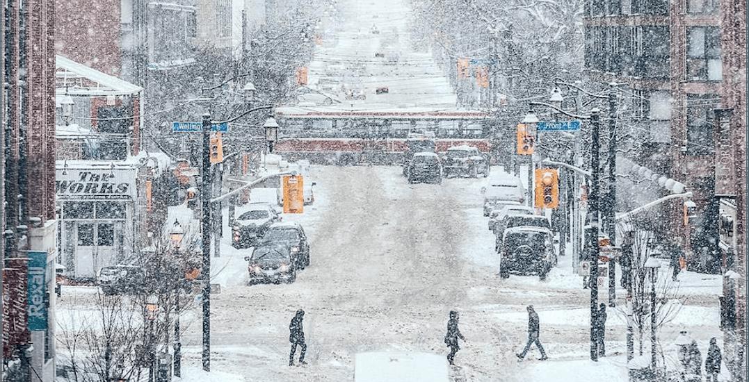 Toronto has already far exceeded its average winter snowfall total