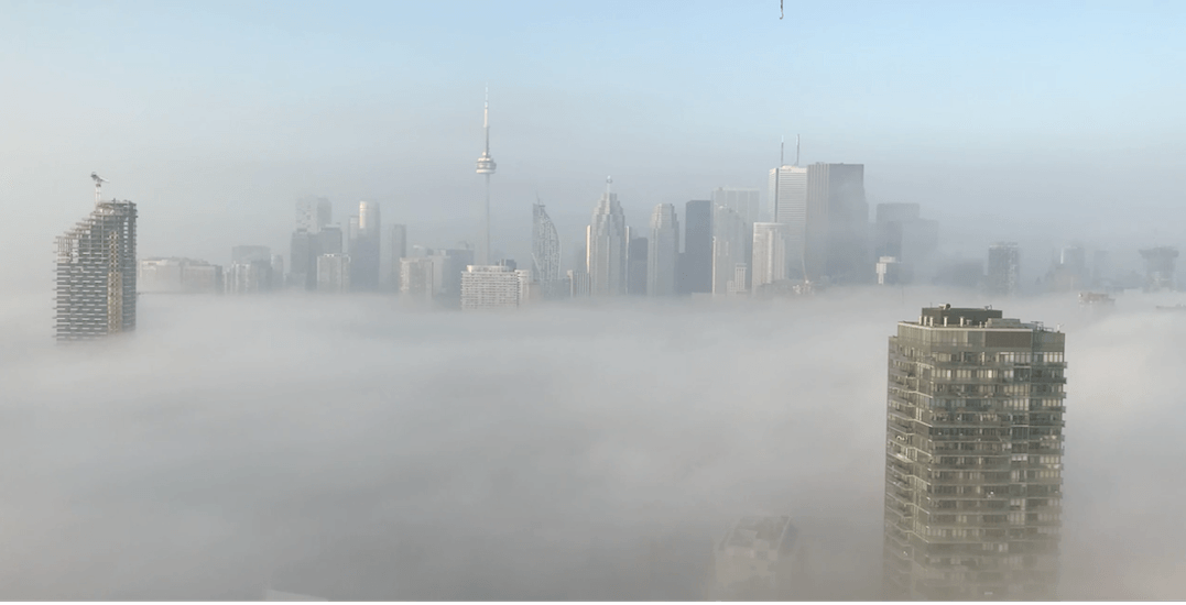 Watch this incredible time-lapse of fog rolling over Toronto last weekend (VIDEO)