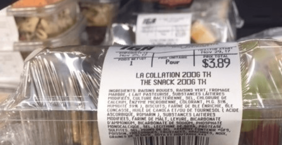 Petition says French-only on IGA pre-packaged foods poses health risk to English speakers