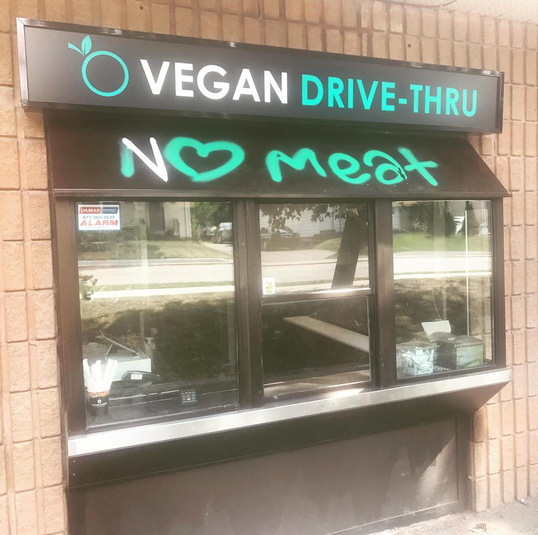 vegan fast food drive thru