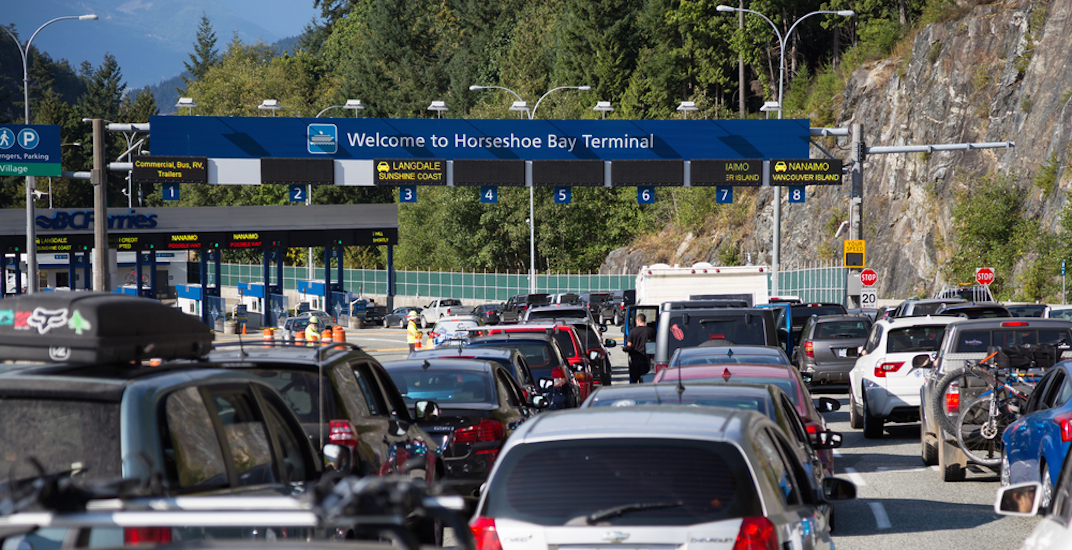 Bc ferries horseshoe bay terminal lineup