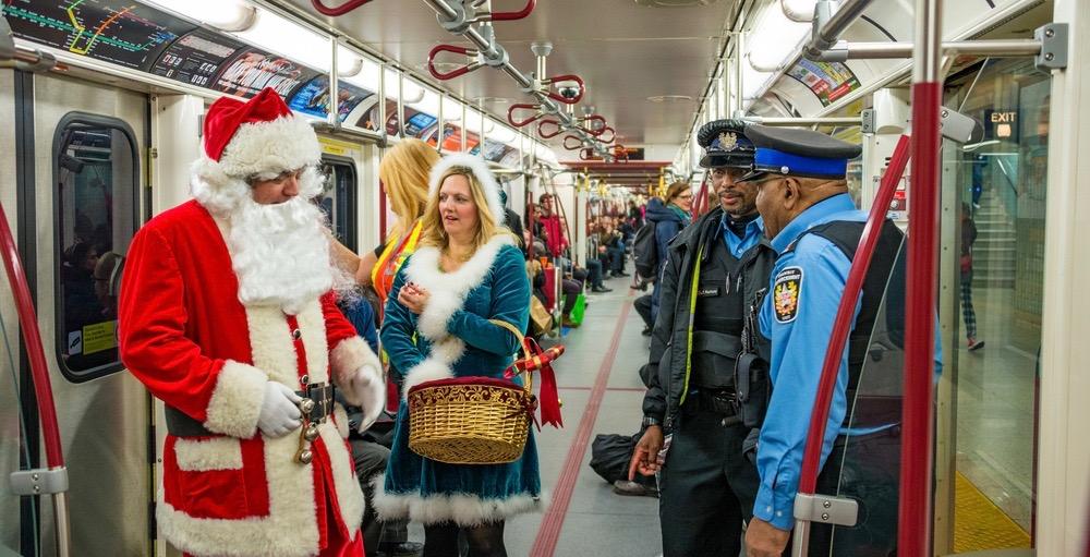 Santa Claus will be riding the TTC tomorrow morning