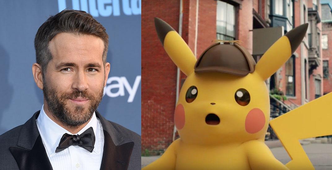 Ryan Reynolds to play Pikachu in live-action Pokémon movie