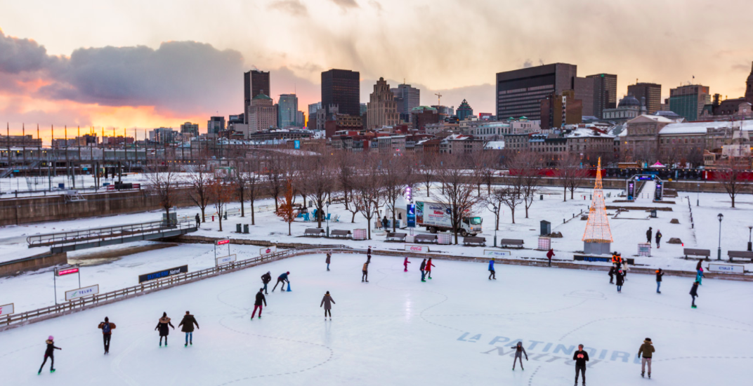This is the last week to skate at Old Montreal's outdoor skating rink