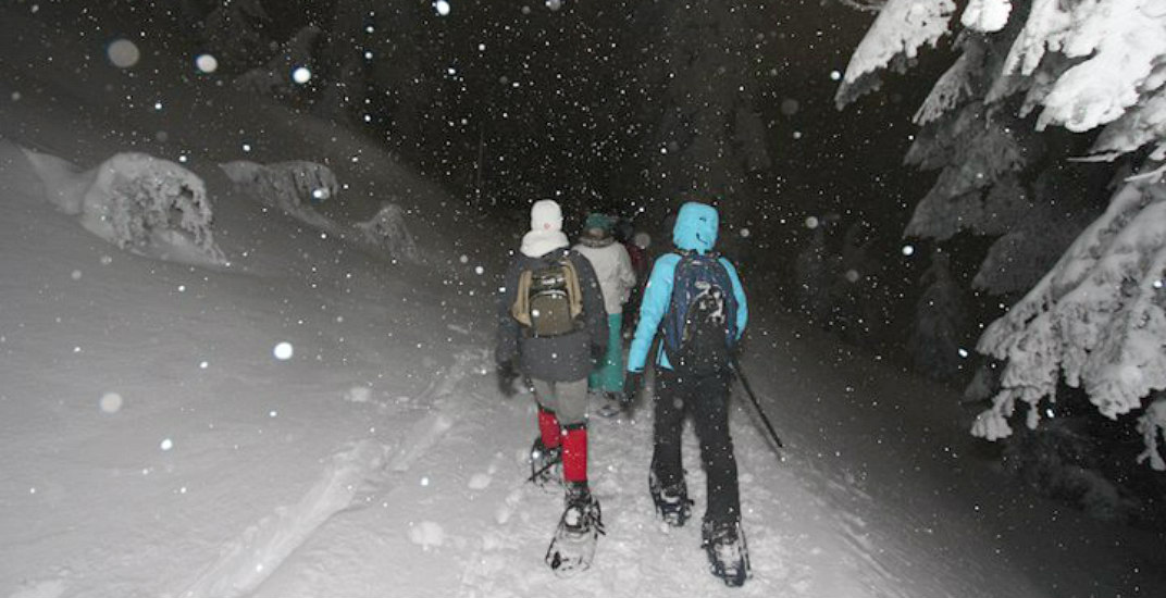 There's going to be a magical moonlight snowshoe walk at Mount Seymour
