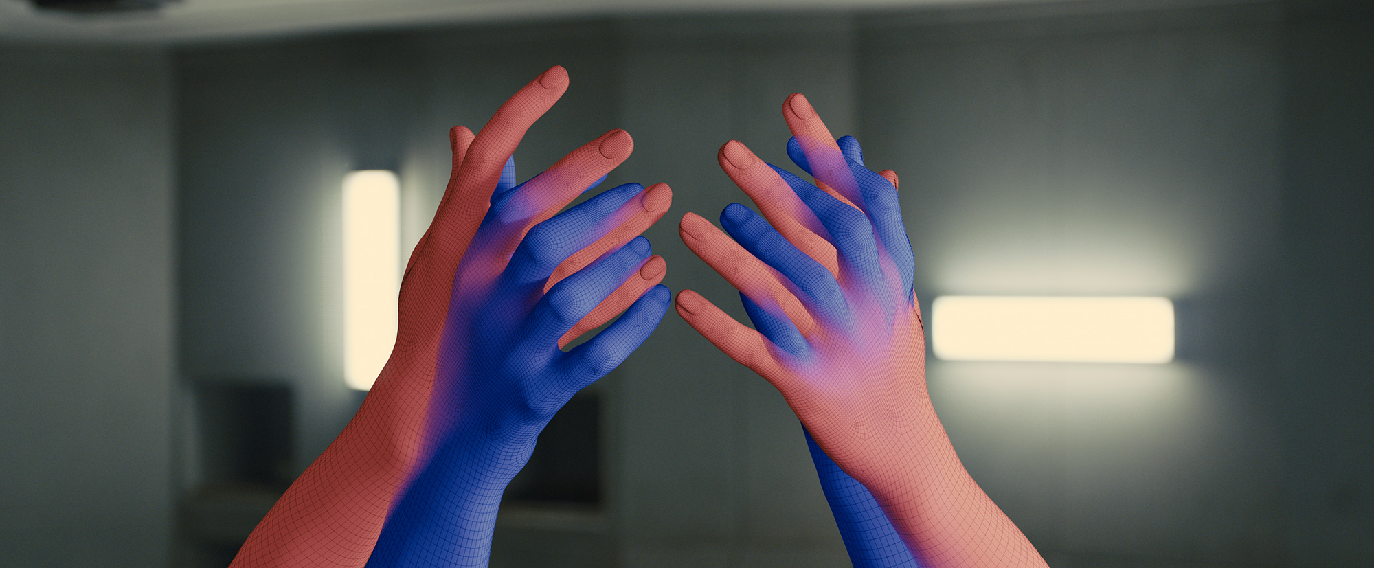 A CG version of both actresses hands during the sex scene in Blade Runner 2049 (©2017 ALCON ENTERTAINMENT, LLC., WARNER BROS. ENTERTAINMENT INC. AND COLUMBIA TRISTAR MARKETING GROUP, INC. ALL RIGHTS RESERVED.)
