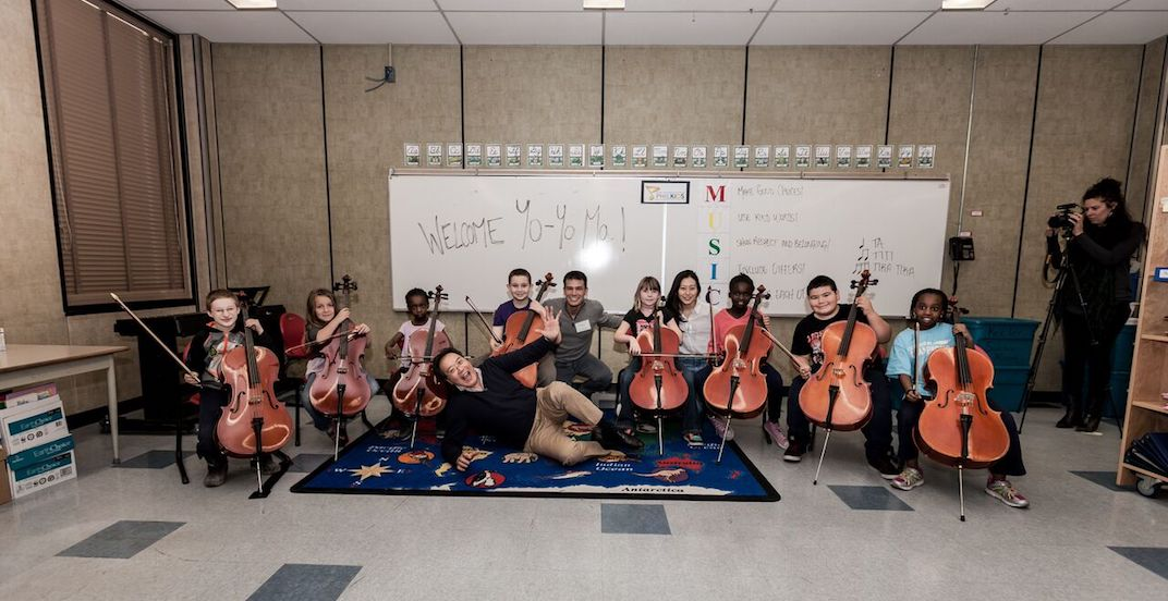 Yo Yo Ma visited a Calgary elementary school to give music lesson
