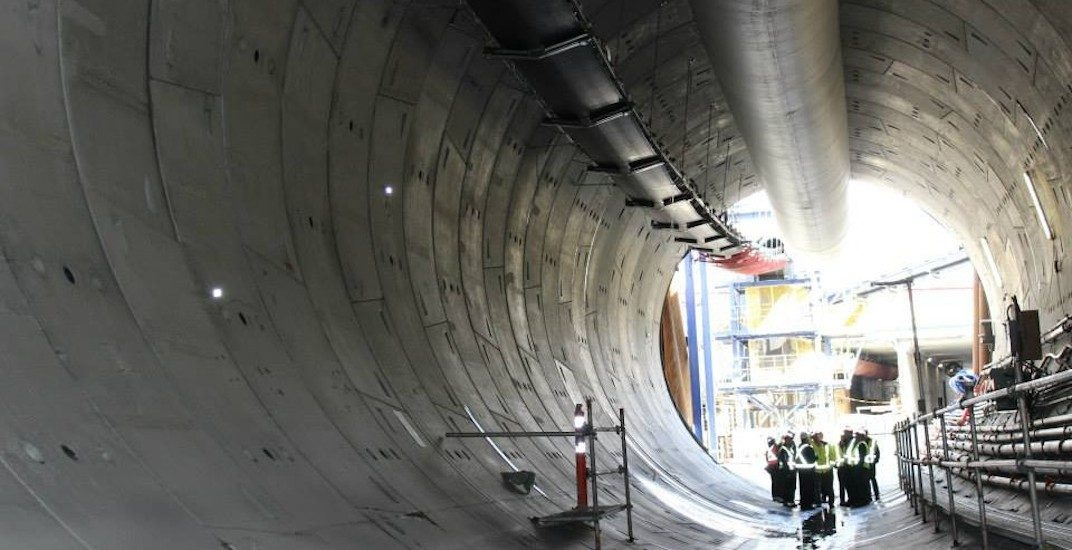 Skytrain evergreen extension tunnel boring machine tbm