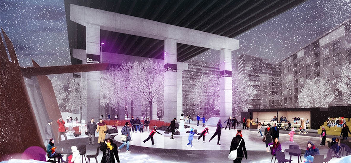 The bentway skate trail opening january 6 2018 2