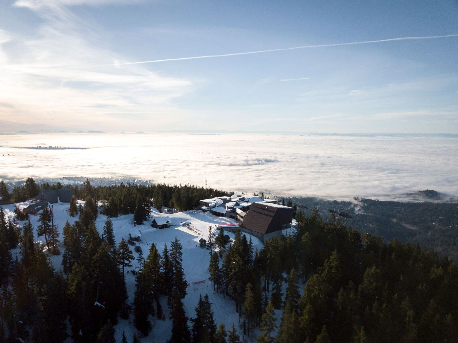 Above the fog at Grouse Mountain (Grouse Mountain Resorts)