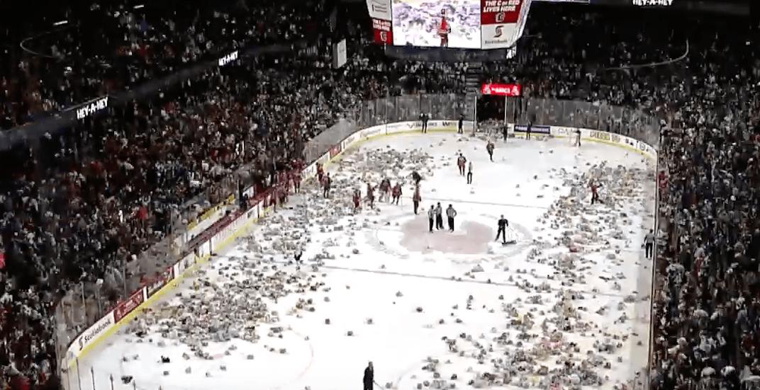 Tickets still available for the 2019 Calgary Hitmen Teddy Bear Toss game