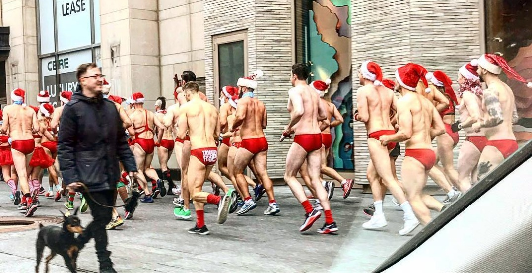 10 photos from Toronto's Santa Speedo Run this weekend