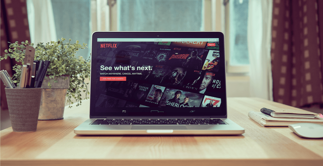 Netflix on a laptop screen (Shutterstock)