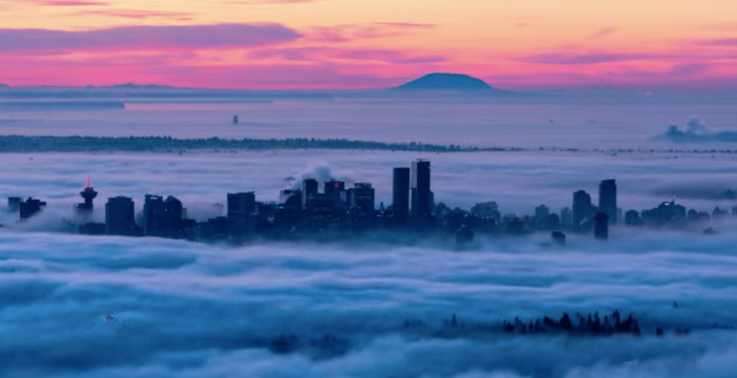 Incredible time-lapse shows fog flowing through Vancouver (VIDEO)