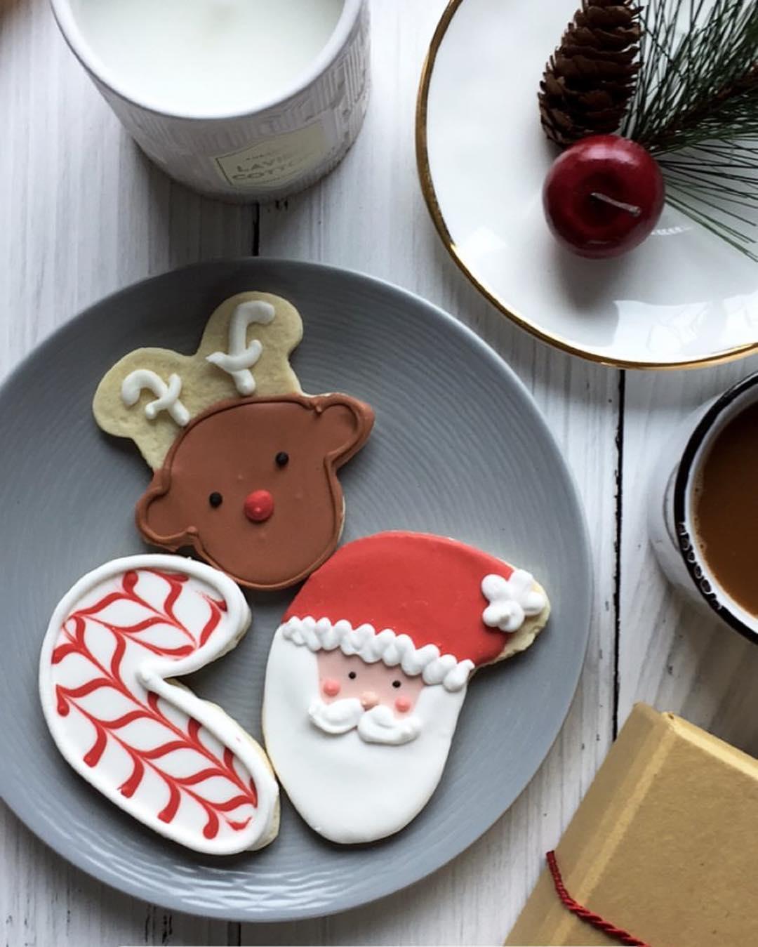 Le Dolci christmas cookies santa