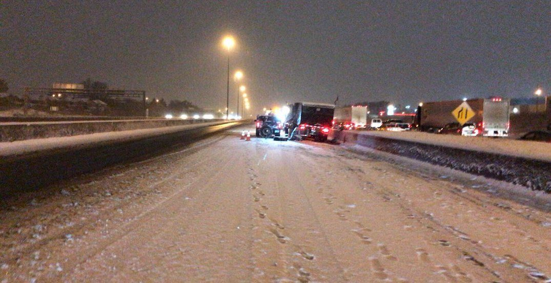 Toronto's first snowfall severely impacted this morning's commute
