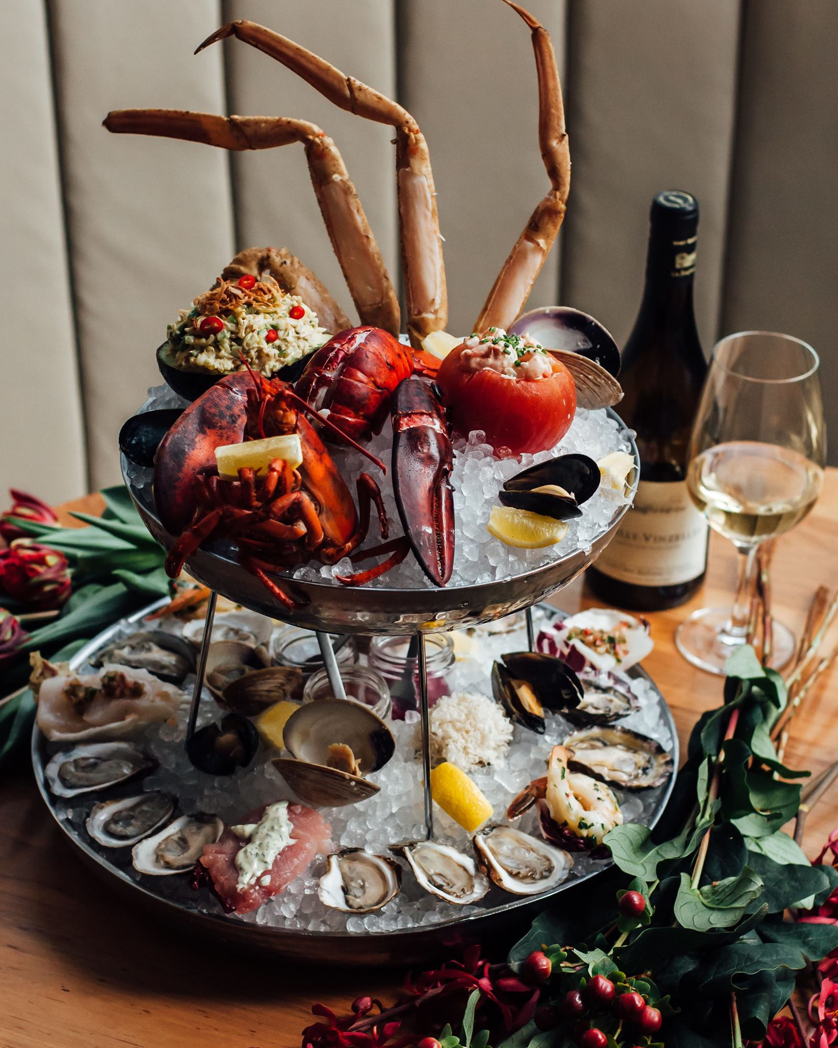 The Chase seafood tower