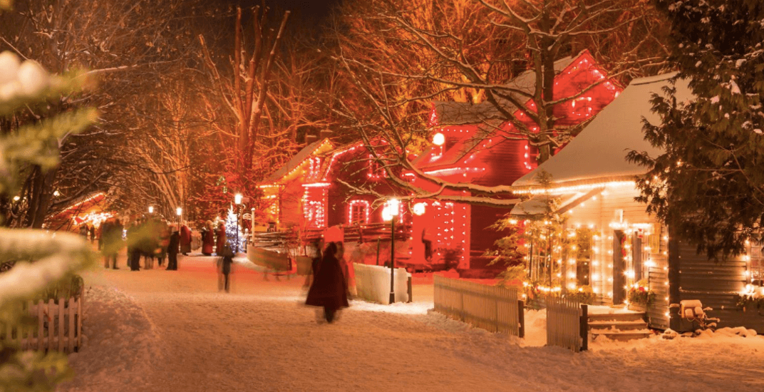 This enchanting Christmas village is less than two hours away from Montreal