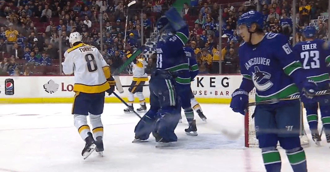 SixPack: Canucks goalie Nilsson smashes stick during ugly 7-1 loss