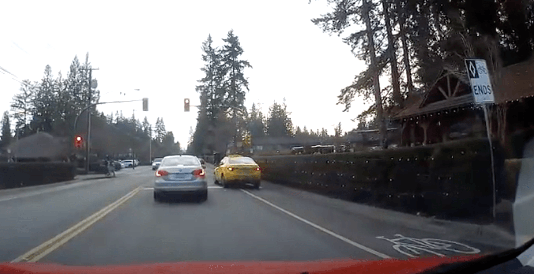 Reckless North Vancouver cab drives through crosswalk and runs red light (VIDEO)