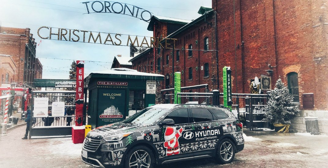 Hyundai is offering complimentary shuttle rides home from the Toronto Christmas Market