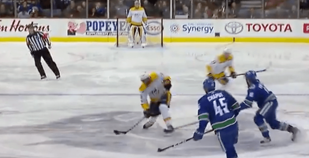 Subban's centre ice goal gives Canucks fans Cloutier flashbacks (VIDEO)