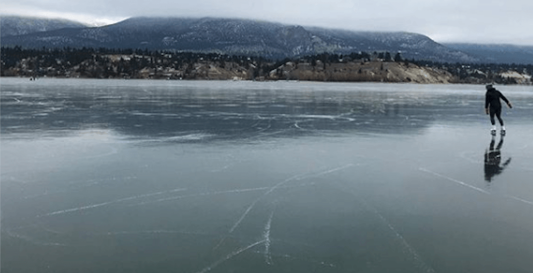 This perfectly frozen BC lake might be the best place to skate in Canada (PHOTOS, VIDEO)